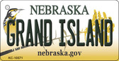 Grand Island Nebraska State License Plate Novelty Key Chain KC-10571
