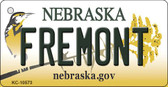 Fremont Nebraska State License Plate Novelty Key Chain KC-10573