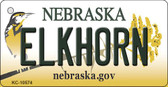Elkhorn Nebraska State License Plate Novelty Key Chain KC-10574
