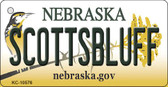 Scottsbluff Nebraska State License Plate Novelty Key Chain KC-10576