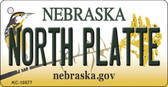 North Platte Nebraska State License Plate Novelty Key Chain KC-10577