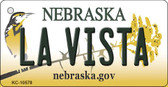 La Vista Nebraska State License Plate Novelty Key Chain KC-10578