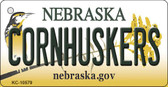 Cornhuskers Nebraska State License Plate Novelty Key Chain KC-10579