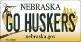 Go Huskers Nebraska State License Plate Novelty Key Chain KC-10580