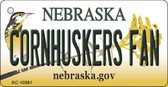 Cornhuskers Fan Nebraska State License Plate Novelty Key Chain KC-10581