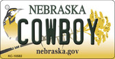 Cowboy Nebraska State License Plate Novelty Key Chain KC-10582