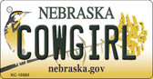 Cowgirl Nebraska State License Plate Novelty Key Chain KC-10583