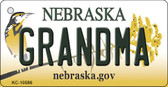 Grandma Nebraska State License Plate Novelty Key Chain KC-10586