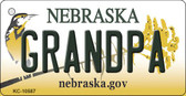 Grandpa Nebraska State License Plate Novelty Key Chain KC-10587