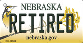 Retired Nebraska State License Plate Novelty Key Chain KC-10588