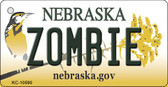 Zombie Nebraska State License Plate Novelty Key Chain KC-10590