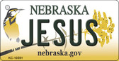 Jesus Nebraska State License Plate Novelty Key Chain KC-10591
