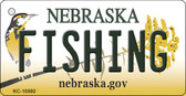 Fishing Nebraska State License Plate Novelty Key Chain KC-10592