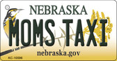 Moms Taxi Nebraska State License Plate Novelty Key Chain KC-10596