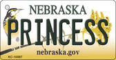 Princess Nebraska State License Plate Novelty Key Chain KC-10597