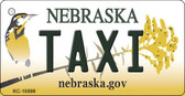 Taxi Nebraska State License Plate Novelty Key Chain KC-10598