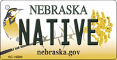 Native Nebraska State License Plate Novelty Key Chain KC-10599