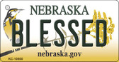 Blessed Nebraska State License Plate Novelty Key Chain KC-10600