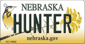 Hunter Nebraska State License Plate Novelty Key Chain KC-10602