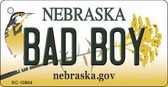 Bad Boy Nebraska State License Plate Novelty Key Chain KC-10604
