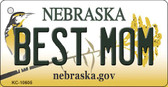 Best Mom Nebraska State License Plate Novelty Key Chain KC-10605