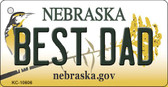 Best Dad Nebraska State License Plate Novelty Key Chain KC-10606