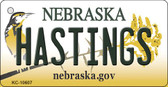 Hastings Nebraska State License Plate Novelty Key Chain KC-10607