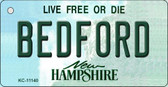 Bedford New Hampshire State License Plate Key Chain KC-11140