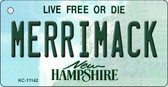 Merrimack New Hampshire State License Plate Key Chain KC-11142