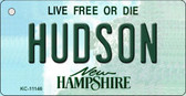 Hudson New Hampshire State License Plate Key Chain KC-11146