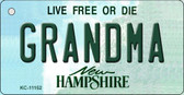 Grandma New Hampshire State License Plate Key Chain KC-11152