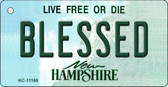Blessed New Hampshire State License Plate Key Chain KC-11168