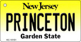 Princeton New Jersey State License Plate Key Chain KC-10151