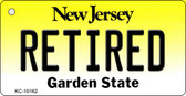 Retired New Jersey State License Plate Key Chain KC-10162