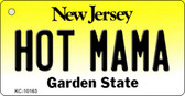 Hot Mama New Jersey State License Plate Key Chain KC-10163