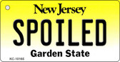 Spoiled New Jersey State License Plate Key Chain KC-10165