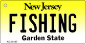 Fishing New Jersey State License Plate Key Chain KC-10167