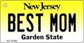 Best Mom New Jersey State License Plate Key Chain KC-10180
