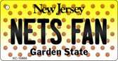 Nets Fan New Jersey State License Plate Key Chain KC-10865