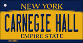 Carnegie Hall New York State License Plate Key Chain KC-8954