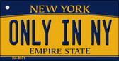 Only In NY New York State License Plate Key Chain KC-8971