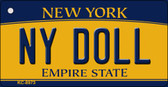 NY Doll New York State License Plate Key Chain KC-8973