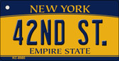 42nd St New York State License Plate Key Chain KC-8980