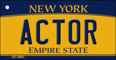 Actor New York State License Plate Key Chain KC-8981