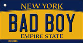 Bad Boy New York State License Plate Key Chain KC-8985