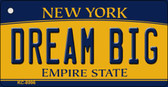 Dream Big New York State License Plate Key Chain KC-8996