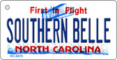 Southern Belle North Carolina State License Plate Key Chain KC-6470