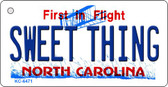 Sweet Thing North Carolina State License Plate Key Chain KC-6471