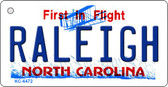 Raleigh North Carolina State License Plate Key Chain KC-6472
