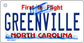 Greenville North Carolina State License Plate Key Chain KC-6477